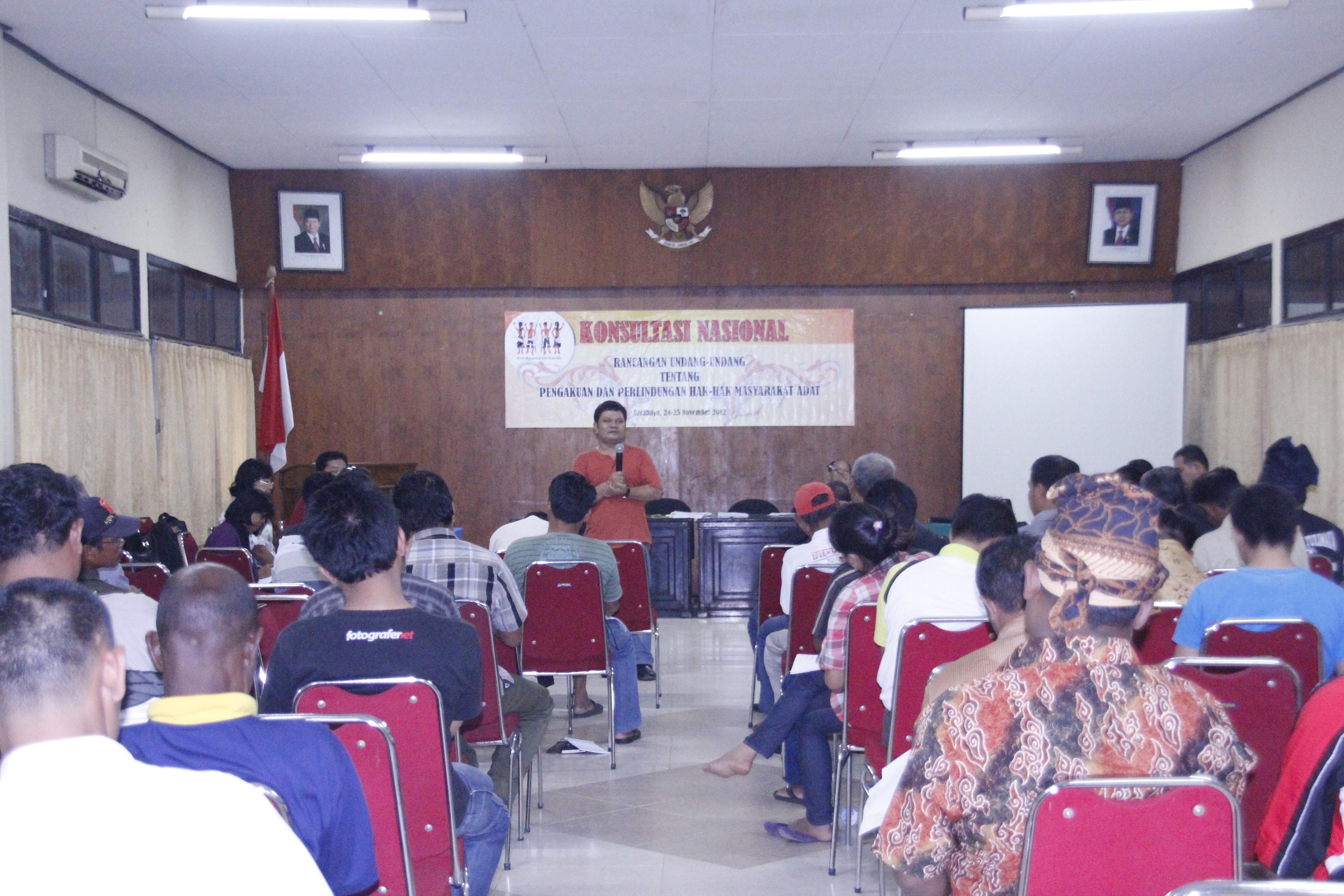 Konsultasi Nasional Rancangan Undang-Undang Pengakuan dan Perindungan Hak-Hak Masyarakat Adat