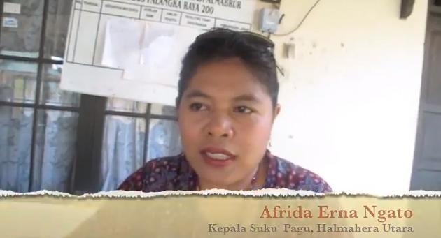 Afrida Erna Ngato, Kepala Suku Pagu, Halmahera Utara