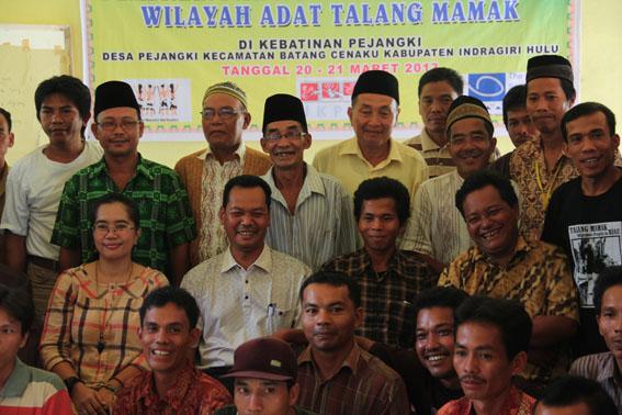 Amankan Wilayah Adat, Talang Mamak Galang Swadaya Untuk Melakukan Pemetaan Partisipatif
