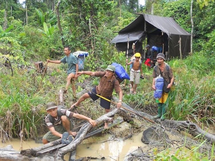 Komunitas Dayak Ngaju Tumbang Bahanei Petakan Wilayah Adat