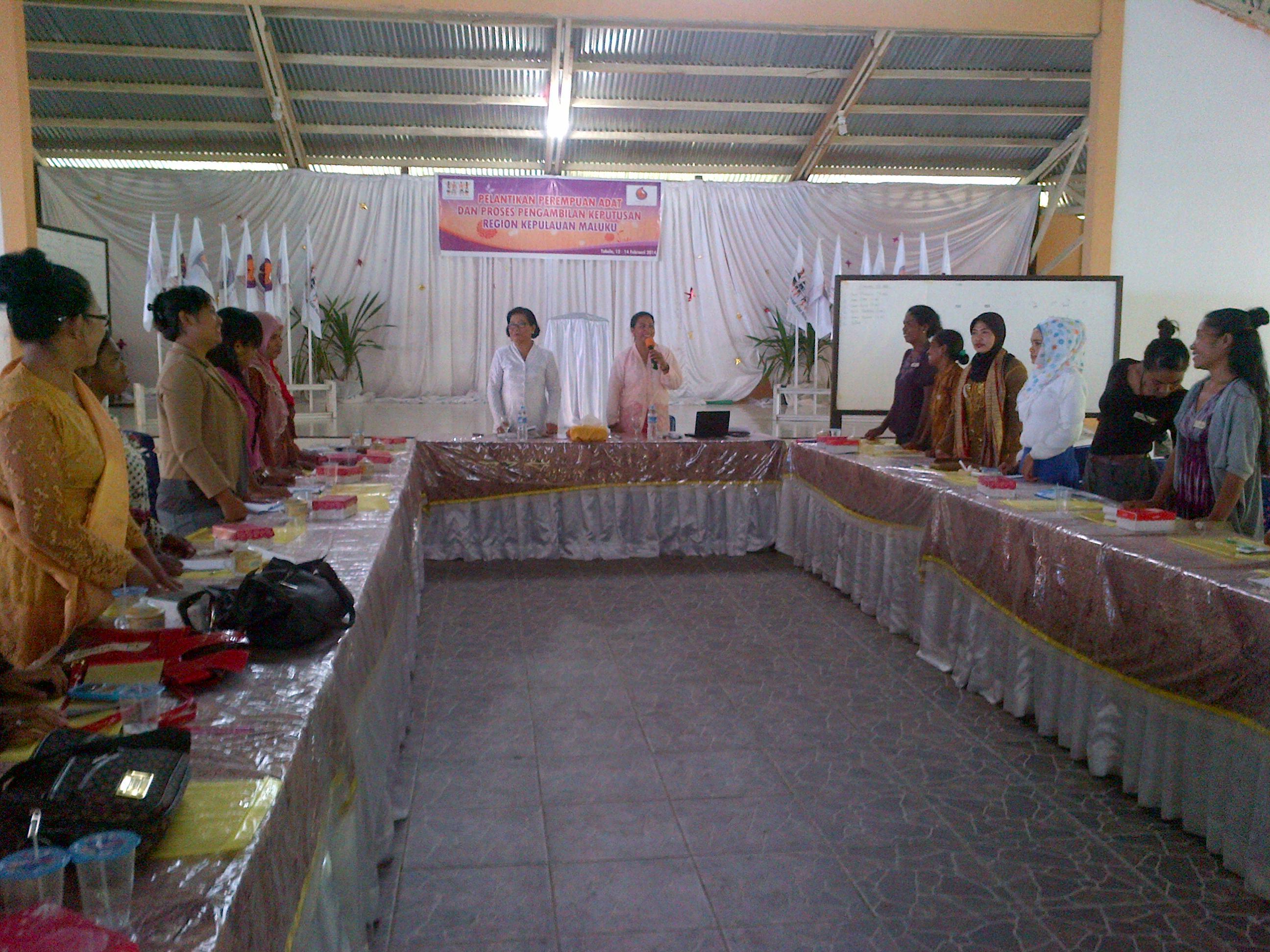 Pelatihan Perempuan Adat Kep. Maluku untuk Pengambilan Keputusan