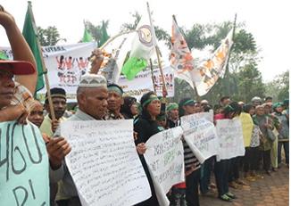 Masyarakat Adat Rakyat Penunggu (BPRPI) Melakukan Aksi Damai  Ke Kantor Kapolda SUMUT dan DPRD Tingkat I