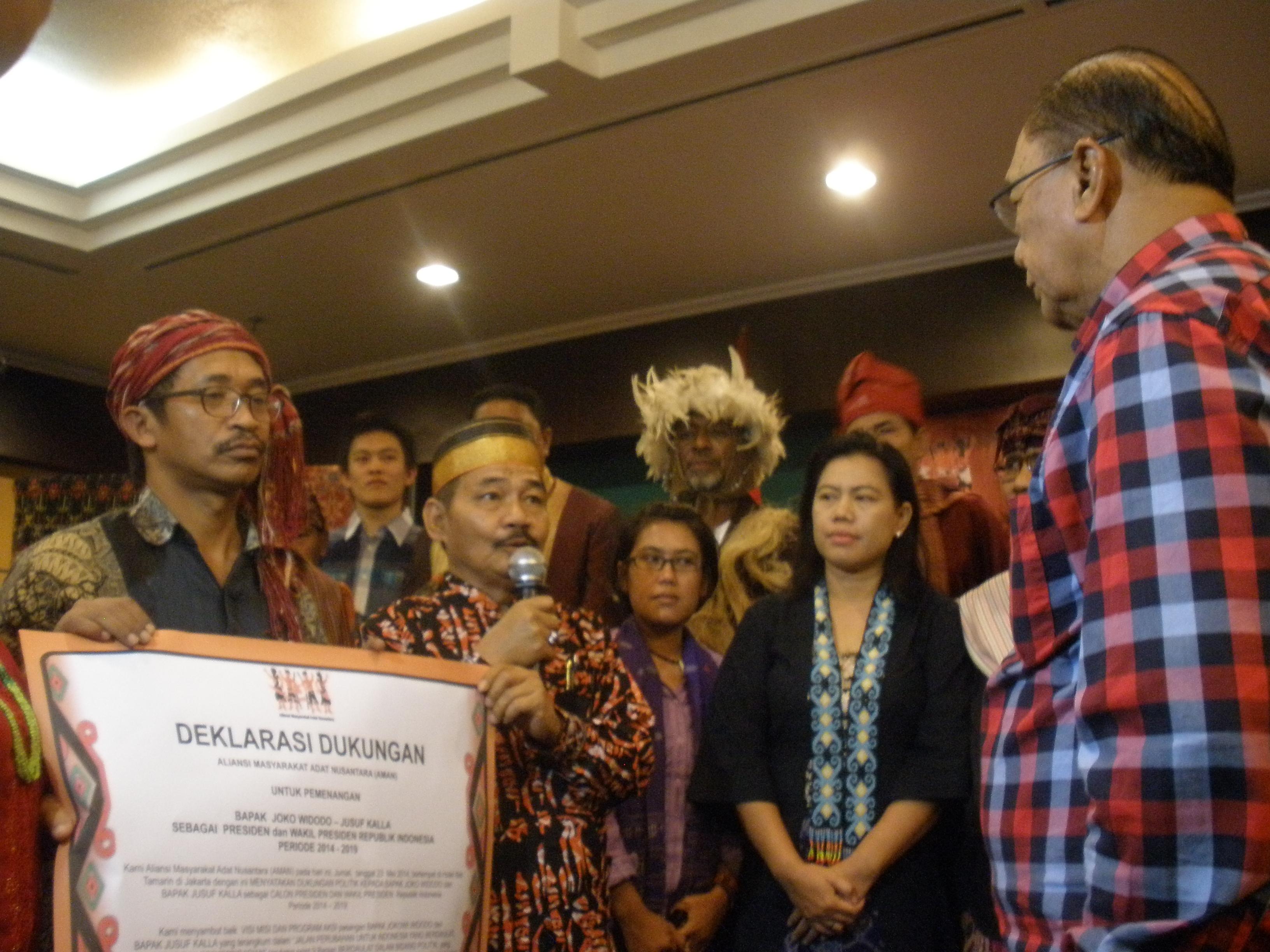 Suara Aliansi Masyarakat Adat Nusantara (AMAN) Untuk Jokowi-JK