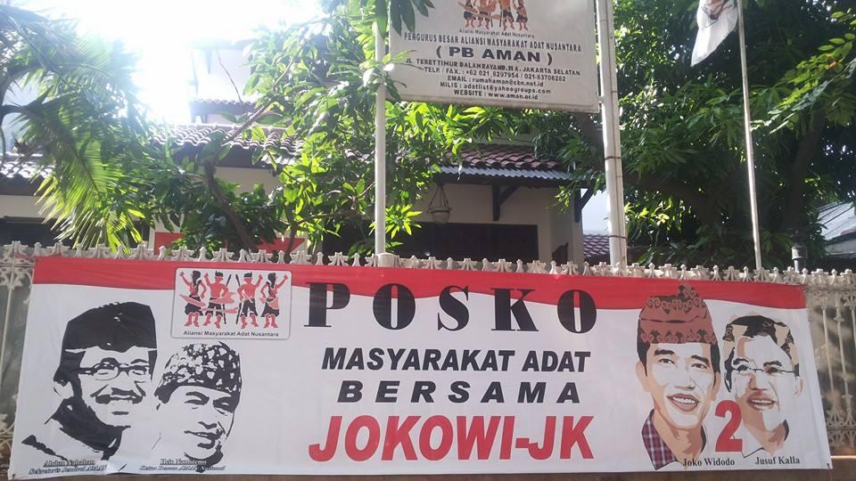 Rumah AMAN Menjadi Posko Pemenangan Capres Joko Widodo