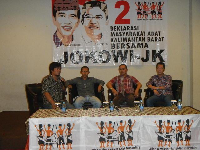 AMAN Kalimantan Barat Deklarasi Dukung Jokowi