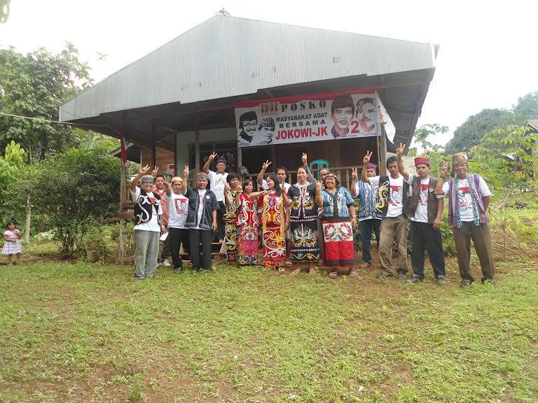 Kampung Linggang Mapan Deklarasi Dukung JKW-JK