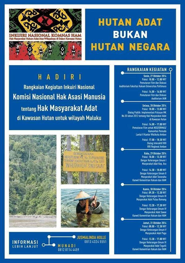 Inkuiri Adat Region Maluku Akan Diselenggarakan Minggu Depan