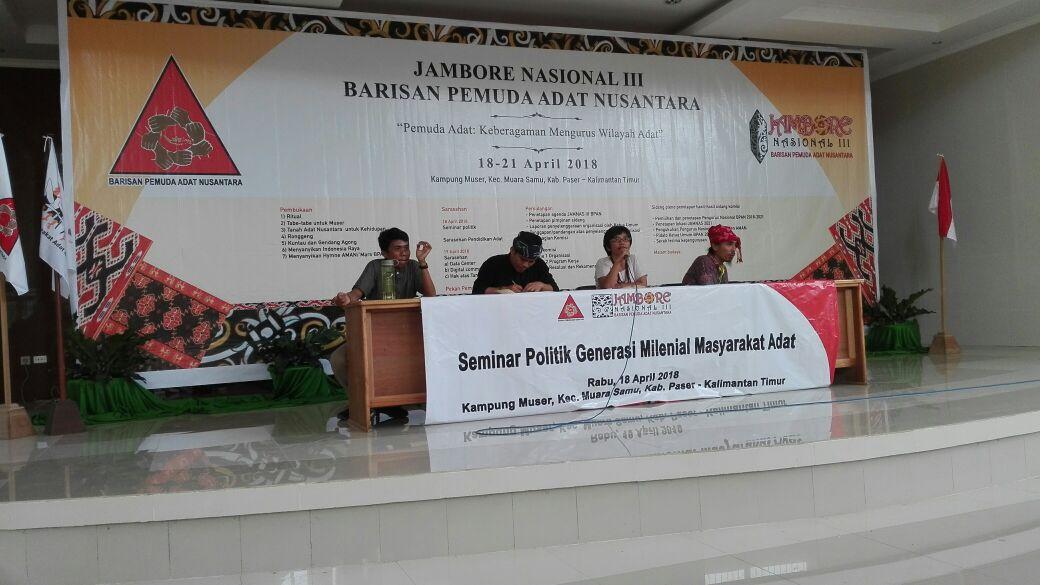 Jambore Nasional III, Pengurus Nasional BPAN selenggarakan Seminar Politik Masyarakat Adat