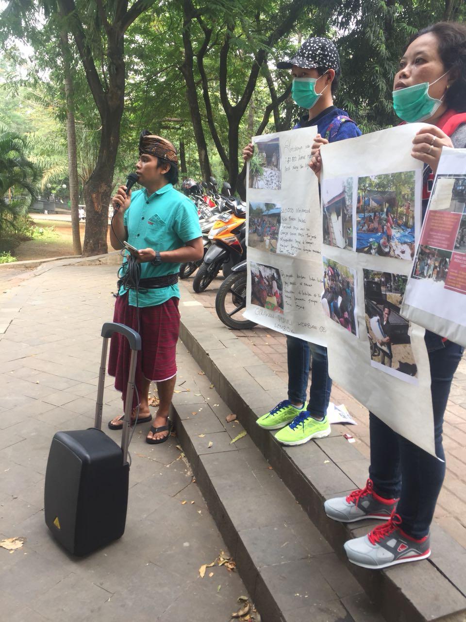 AMAN dan BPAN Gelar Aksi Solidaritas Korban Gempa NTB