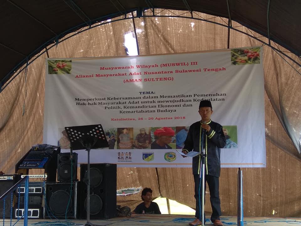 Muswil III AMAN Sulawesi Tengah Antar Asran Daeng Patompo Jadi Ketua BPH