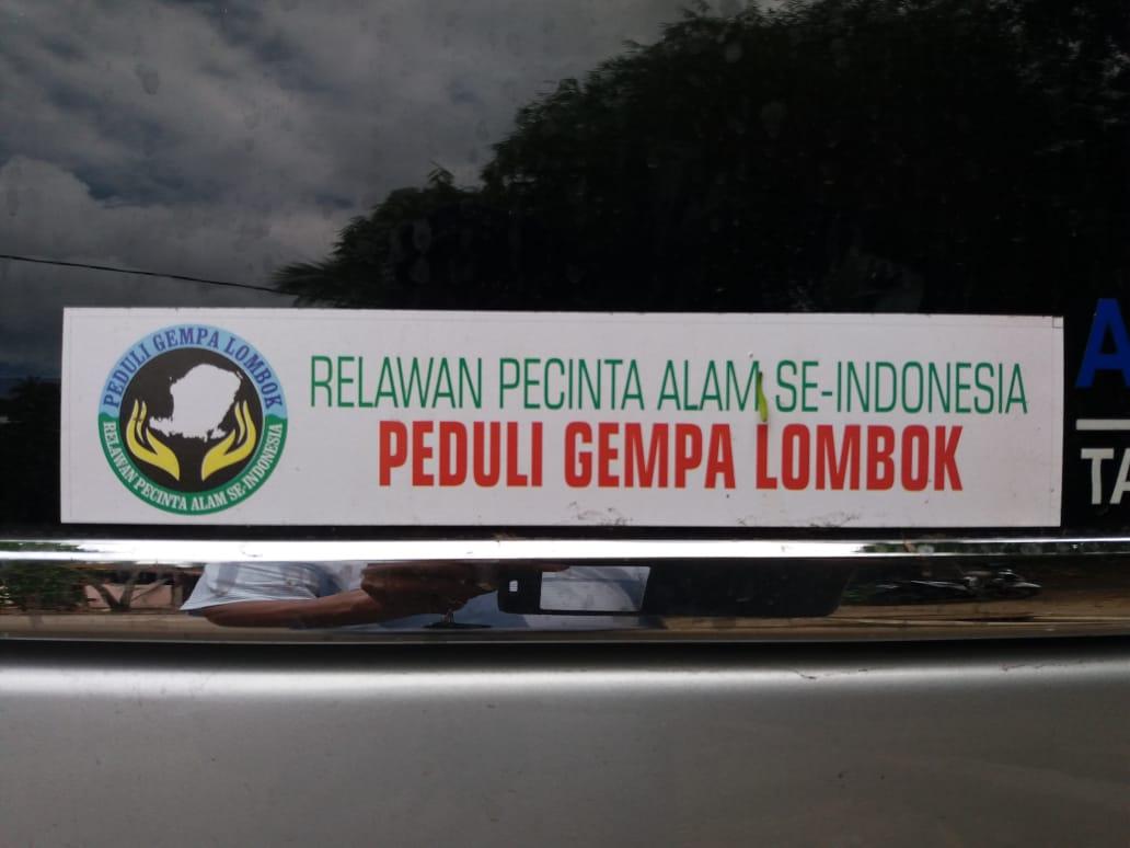 """AMAN NTB Terima Bantuan dari """"Relawan Pencinta Alam Se-Indonesia Peduli Gempa Lombok"""""""