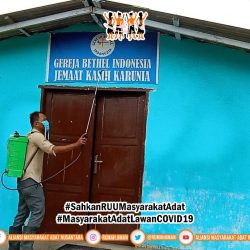 Gugus Tugas AMANkanCOVID19 AMAN Wilayah Sumatra Utara Lakukan Penyemprotan Disinfektan