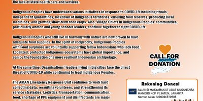 Call for Donation: Helping the Indigenous Peoples Fight Against COVID-19