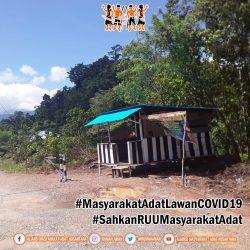 Komunitas Adat Kampung Kalabli Palang Jalan, Cegah Penyebaran COVID-19