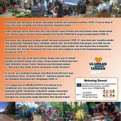 Seruan Donasi: #MasyarakatAdatLawanCOVID19