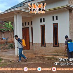 Cegah COVID-19 Gugus Tugas AMANkanCOVID19 Lampung Timur Lakukan Penyemprotan Disinfektan