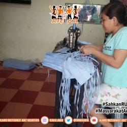 Gugus Tugas AMANkanCOVID Sumatra Utara Produksi Masker Mandiri