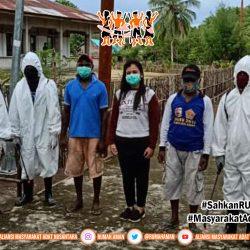 Cegah Wabah di Komunitas, Gugus Tugas AMANkanCOVID19 Kepulauan Aru, Maluku Lakukan Penyemprotan Disinfektan