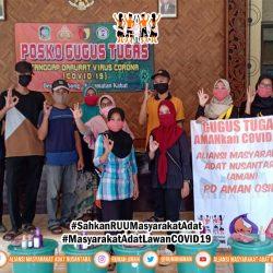 Gugus Tugas AMANkanCOVID19 Daerah Osing Salurkan Bantuan
