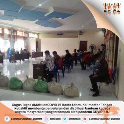 Gugus Tugas AMANkanCOVID19 Barito Utara Bantu Penyaluran Bantuan Korban COVID-19