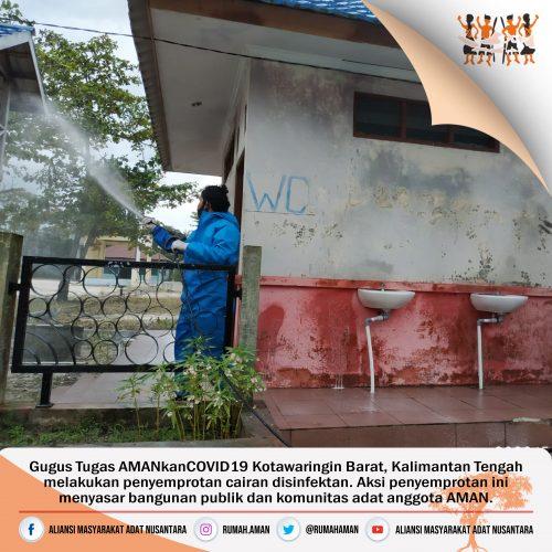 Gugus Tugas AMANkanCOVID19 Kotawaringin Baru Lakukan Penyemprotan Disinfektan