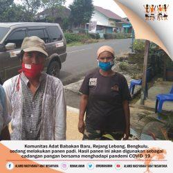 Komunitas Adat Babakan Baru, Rejang Lebong, Bengkulu, Cadangkan Hasil Panen Untuk Hadapi Pandemi COVID-19