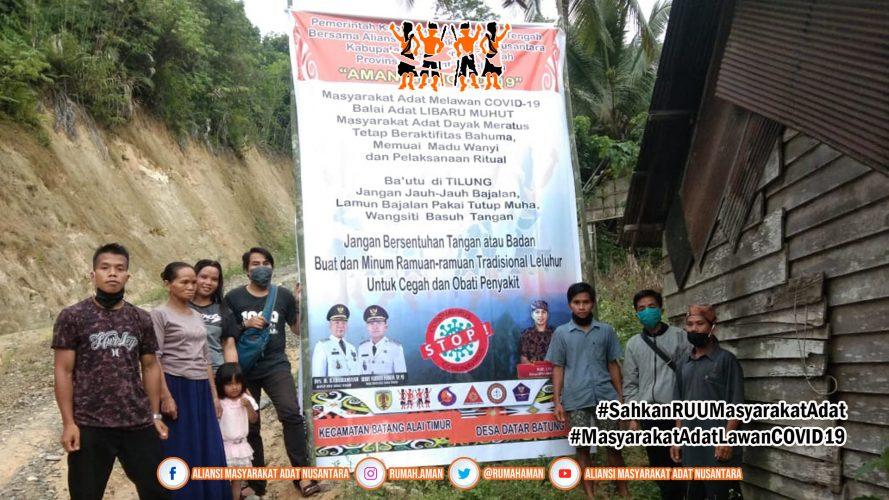 Gugus Tugas AMANkanCOVID19 Hulu Sungai Tengah Bagikan Masker dan Lakukan Sosialisasi