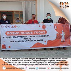 AMAN Wilayah Sulawesi Tengah, Dorong Semua AMAN Daerah Aktif Lawan COVID-19