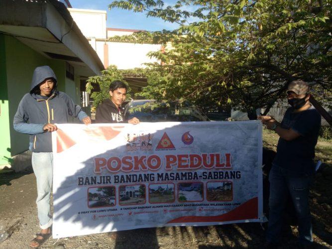 AMAN Tana Luwu Salurkan Bantuan Korban Banjir di Kabupaten Luwu Utara