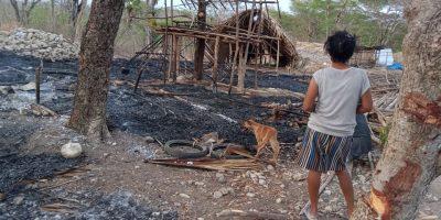 Konflik Masyarakat Adat Pubabu Berlanjut, rumah-rumah pun dibakar