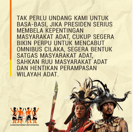Siaran Pers - Aliansi Masyarakat Adat Nusantara