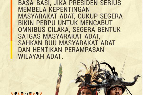 Siaran Pers – Aliansi Masyarakat Adat Nusantara